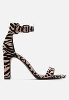 Call It Spring - Alexiss heel - pink & black