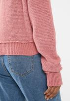 Cotton On - Sadie slouchy boucle v-neck - pink