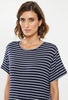 edit - T-shirt dress - navy & white