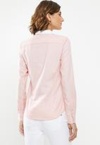 POLO - Sarah long sleeve oxford shirt - pink