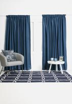 Sixth Floor - Self lined taped curtain - navy
