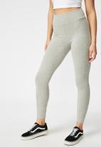 Cotton On - High waisted legging - grey