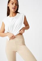 Cotton On - High waisted legging - neutral