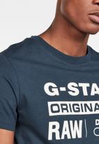 G-Star RAW - Graphic 8 r T-shirt - blue