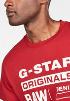 G-Star RAW - Graphic 8 r T-shirt - red