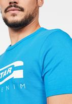 G-Star RAW - Graphic 4 slim T-shirt  - blue
