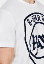 G-Star RAW - Graphic 10 short sleeve T-shirt - white