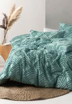 Linen House - Ramona duvet cover set - aqua