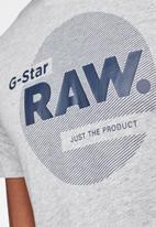 G-Star RAW - Slim logo circle T-shirt - grey