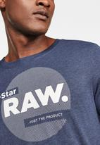 G-Star RAW - Slim logo circle T-shirt - blue