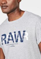 G-Star RAW - Straight logo double T-shirt - grey