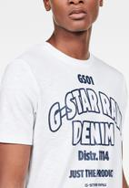G-Star RAW - Slim logo T-shirt - white