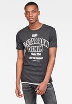 G-Star RAW - Slim logo T-shirt - black