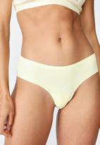 Cotton On - Lily lace brasiliano briefs - yellow