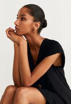 MANGO - Button detail dress - black