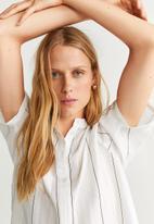 MANGO - Short sleeve blouse - white