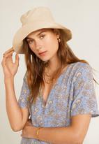 MANGO - Floral print dress - blue & white