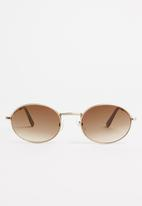 Superbalist - Lost boy sunglasses - gold & brown