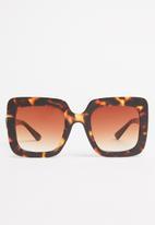 Superbalist - Yara oversized sunglasses - brown & black