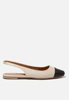 Cotton On - Ceylon slingback - beige & black