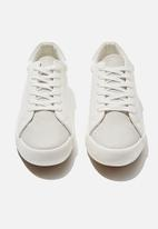 Cotton On - Ally low rise sneaker - white & grey