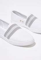 Cotton On - Harlow slip on - white & grey