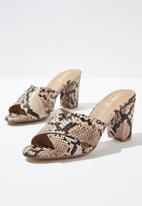 Cotton On - Quartz cross over mule - black & brown