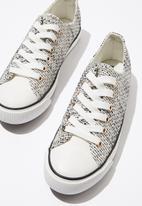 Cotton On - Jodi low rise sneaker  - white & black
