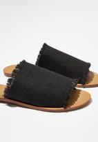 Cotton On - Cleo minimal slide - black