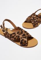 Cotton On - Hazel slingback sandals - brown