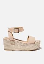 Cotton On - Crystal espadrille wedge - neutral