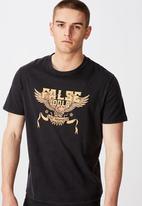 Factorie - Prophets of age regular graphic T-shirt - black