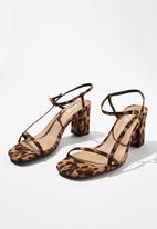 Cotton On - Hannah thin strap heel - black & brown