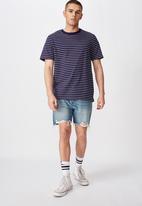 Factorie - Stripe T-shirt - navy & white