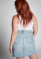 Cotton On - Curve denim skirt - blue