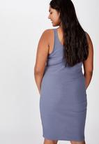 Cotton On - Curve Kaylee bodycon midi dress - grey