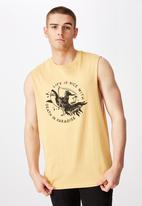 Factorie - Nice life graphic muscle tank - yellow