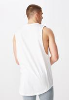 Factorie - Reign graphic muscle tank - white