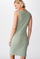 Cotton On - Maternity high neck midi dress - green