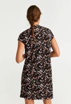 MANGO - Dress veldu - pink & black