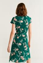 MANGO - Dress crossep - green