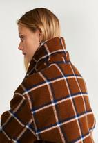 MANGO - Coat lolis - brown & blue