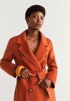 MANGO - Coat robert - orange