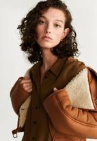 MANGO - Dress dallas  - brown