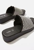 Cotton On - Adina flatform sandal - black