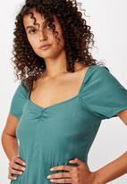 Cotton On - Woven Faye split midi dress - teal