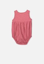 Cotton On - Craigelina singlet bubbysuit - pink