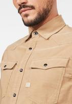 G-Star RAW - 3301 Slim long sleeve shirts  - beige