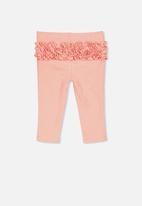 Cotton On - Quinn ruffle legging - orange