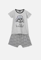Cotton On - Short sleeve pj set - grey
